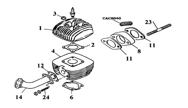 yamaha kt100j cylinder head parts rh agskartparts com au