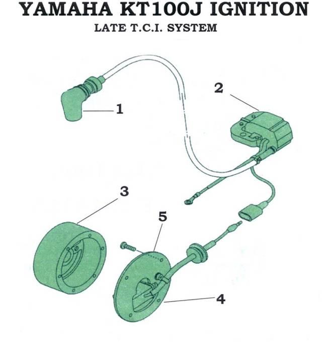 No 4 YAMAHA KT100J TCI STATOR Yamaha Kt Wiring Diagram on