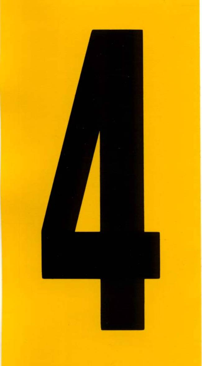 Number 4 Black  U0026 Yellow Adhesive 140mm