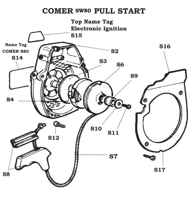 comer pull start rh agskartparts com au Comer 50Cc Engine Go Kart Engines Comer