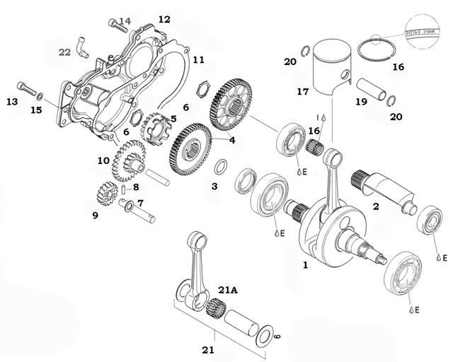 Rotax 125 Max And Junior Max Crankshaft