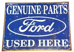METAL GARAGE SIGN GENUINE FORD product image