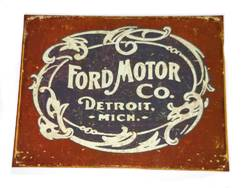 METAL GARAGE SIGN FORD MOTOR CO product image