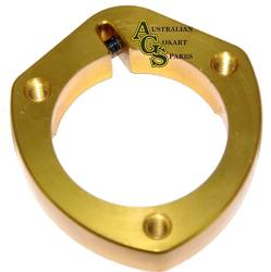 GOLD ALLOY REAR AXLE BEARING FLANGE 30MM product image