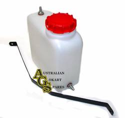 2 LITRE FUEL TANK WITH MOUNT STRAP RED CAP product image