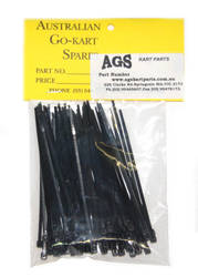 CABLE TIES PLASTIC 100mm BLACK product image