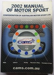 2002 MANUAL OF MOTORSPORT CAMS product image