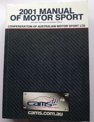 2001 MANUAL OF MOTORSPORT CAMS product image
