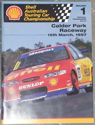 SHELL AUSTRALIAN TOURING CAR CHAMPIONSHIP 1997 ROUND 1 PROGRAM product image