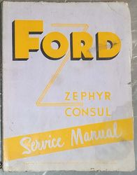 FORD CONSUL/ZEPHYR MARK ONE SERVICE MANUAL  product image