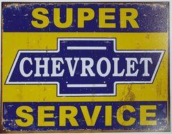 METAL GARAGE SIGN SUPER CHEV product image