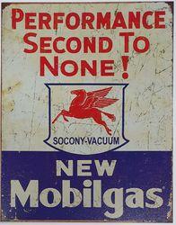 METAL GARAGE SIGN NEW MOBILGAS product image