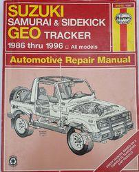 1986-1996 SUZUKI AND SIDEKICK GEO TRACKER WORKSHOP MANUAL product image