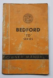 BEDFORD TD SERIES OWNERS MANUAL product image
