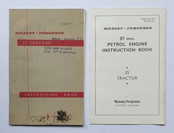 MASSEY FERGUSON 35 INSTRUCTION BOOK product image