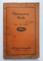 FORD DE LUXE INSTRUCTION BOOK product image